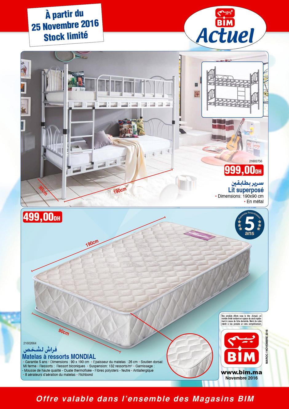 promotion et catalogue bim partir du 25 novembre 2016. Black Bedroom Furniture Sets. Home Design Ideas
